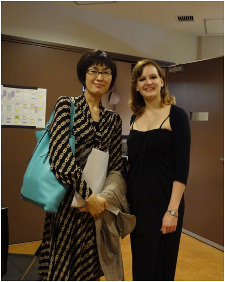 Zulus (right), Sylff fellow and Yamada, program officer of the Tokyo Foundation