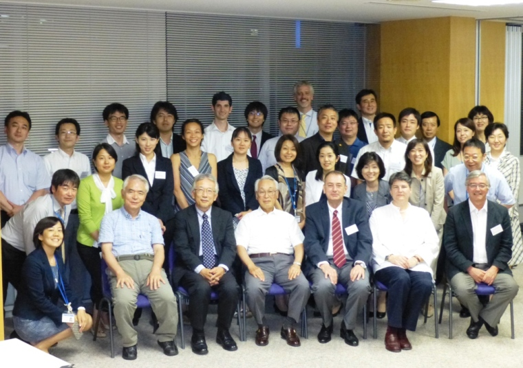 All participants of the Sylff Fellows Gathering in Tokyo on July 10, 2013.