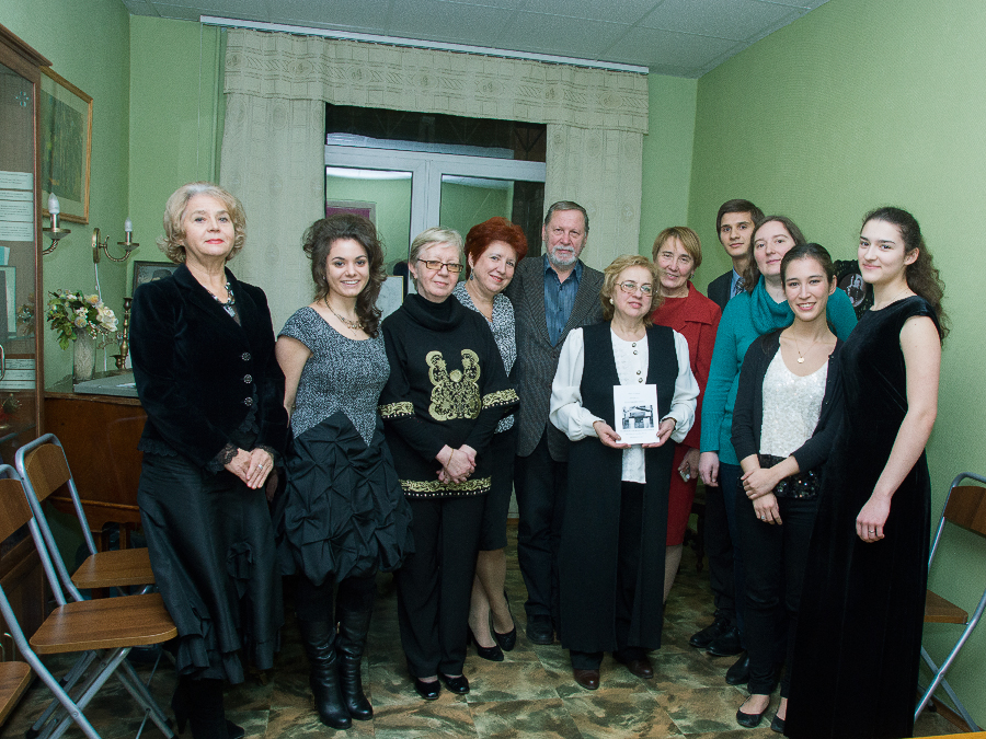 With Shebalin's family members and directors of the Shebalin Music School