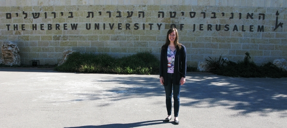 The author at the Hebrew University of Jerusalem