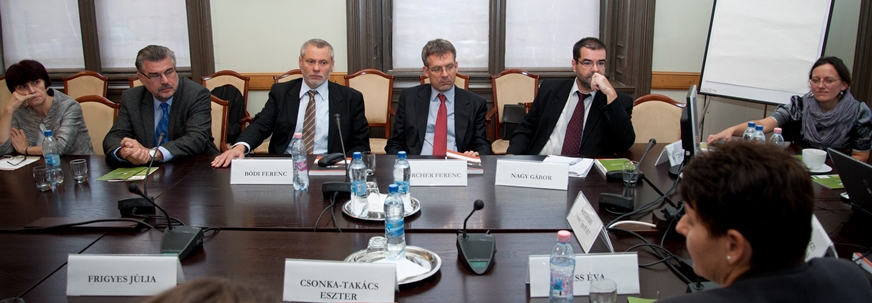 VIPs attending the  meeting included three past Hungarian Sylff fellows, of whom we are particularly proud:  (from right to left) Gábor Nagy, Ferenc Hörcher, and Ferenc Bódi.