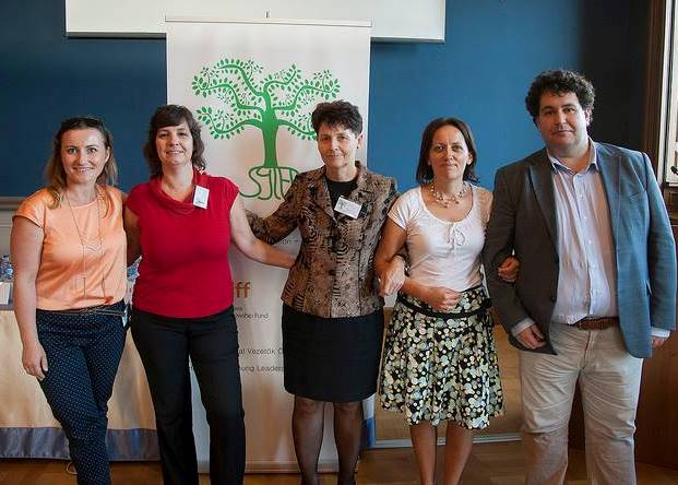 The main organizers of the event (from left to right): Viktoria Ferenc, Andrea Kunsagi, Eva Kiss, Loretta Huszak, and Viktor Lorincz.
