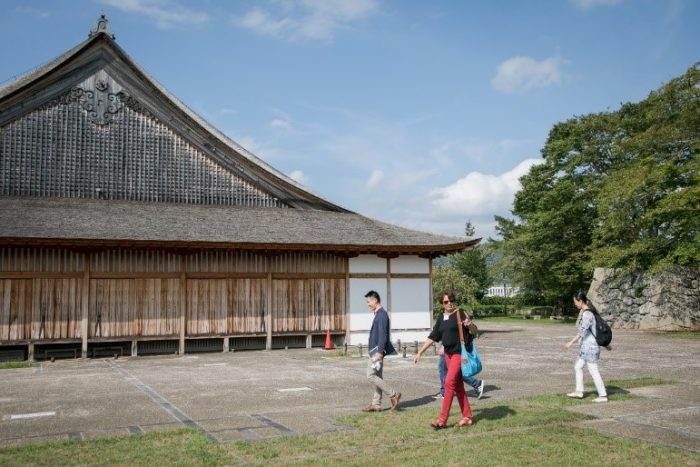 A reconstructed section of Sasayama Castle.