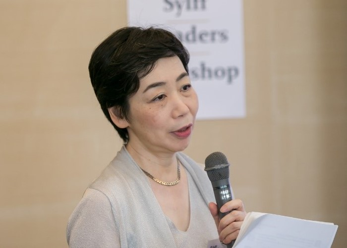 Welcome remarks by Sanae Oda.
