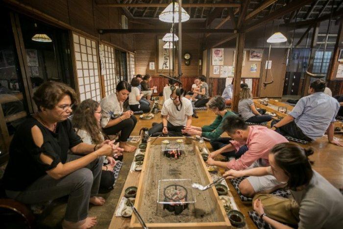 Dinner at a robatayaki (Japanese-style barbeque) restaurant on September 18.