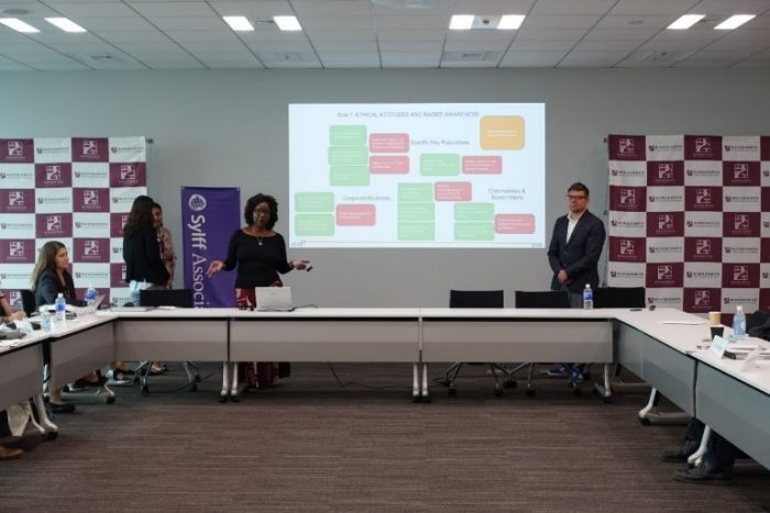 Final presentation (2) by Rosangela Malachias (left of screen) and Stefan Buchholz (right).