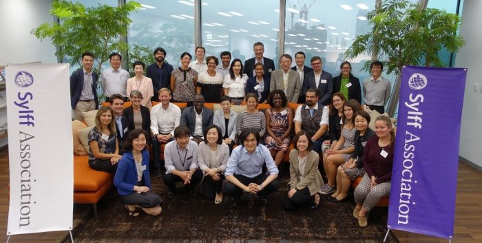 A group photo at the Tokyo Foundation for Policy Research on September 20.