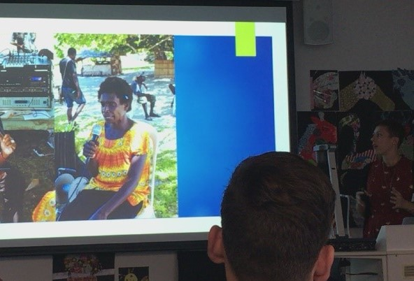 Ms. Kayt Bronnimann presented on her interview project in Bougainville.